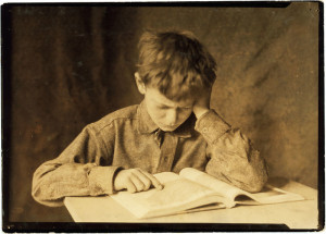 To study or not to study?  (Picture By Lewis Hine, via Wikimedia Commons)